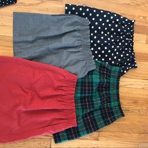 4 high waist j crew mini skirts in prints